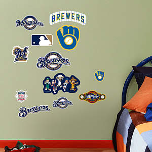 Milwaukee Brewers - Team Logo Assortment Fathead Wall Decal